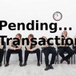 Что делать если транзакция в pending?